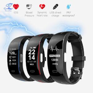 P3 Smart Поддержка диапазона частот ЭКГ+PPG мониторинг артериального давления IP67 водонепроницаемый Pedometer спортивных фитнес-браслет