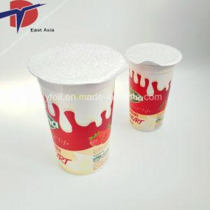 Le yaourt tasse en plastique de couvercles en aluminium