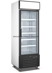 Portello di vetro del supermercato/congelatore dritto gelato/della visualizzazione