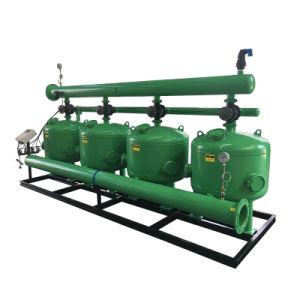 A opção Predefiniç autom de filtração de fluxo lateral do filtro de Areia