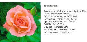 Nº CAS 8007-01-0 grueso Puro Aceite Esencial de Rosa Aceite con Fragancia de aceites de base de sabor de alimentos