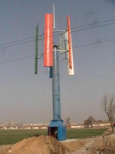 200W 나선형 수직 축선 풍력 터빈 떨어져 격자