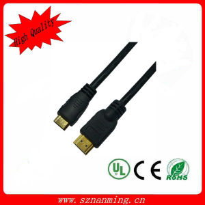 Computer (NM-HDMI-059)를 위한 Mini HDMI Cable에 Gold-Plated HDMI
