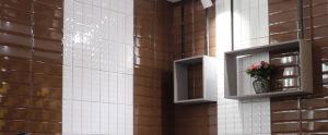 パキスタンの内壁のタイルのブラウン4X12inch/10X30cmカラーペンキの中国のタイル