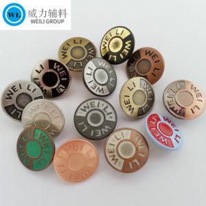 Botão de encaixe em várias cores, botão de metal para lubrificar e camisa, Guarnições de metal para Vestuário Vestuário