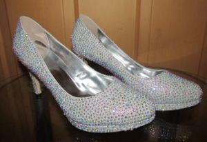 Nueva colección de primavera de diamantes de Tacón zapatos de mujer