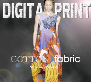 GarmentsおよびCoats (X1049)のための2017年の綿DIGITAL Print