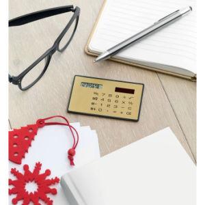 Calcolatore solare di formato della carta di credito delle 8 cifre con il marchio personalizzato