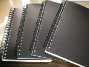 Banheira de venda de notebooks em espiral de papel Offset personalizada