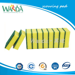 No deformado Estropajos de esponja de cocina para Disheswashing Scourer esponja