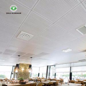 L'absorption acoustique prix bon marché durables 600*600 Square les carreaux de plafond