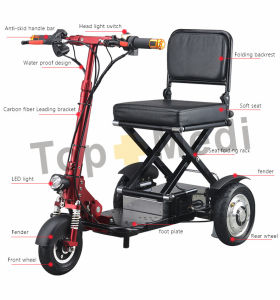 4 Wheel Medical Disabled Power Foldable Électrique Easy Move Mobility Scooter pour adultes