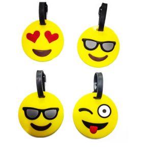 Kundenspezifische Arbeitsweg Belüftung-Gepäck-Marke mit geprägtem Lächeln-Firmenzeichen