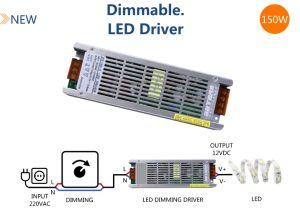 12V 150W regulable de transformadores de Cinta LED