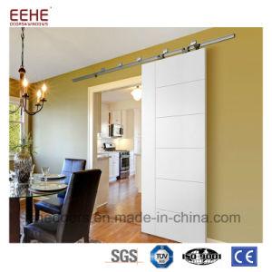 Portello di granaio di legno solido della Cina con lo scivolamento del sistema