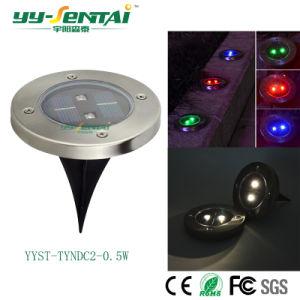 Ce/RoHS approuvé 0,5W Solarlight extérieur la masse de la lampe à LED