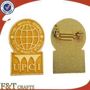卸し売りカスタム金属のバッジの折りえりPinの安い金のエナメルPin
