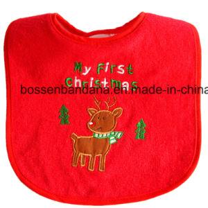 O produto da fábrica personalizou Bibs bordados projeto do bebê de Terry do algodão