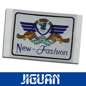 Poliéster algodón ropa personalizada etiquetas tejidas