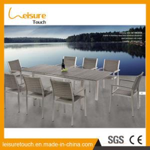 Multifuncional de alumínio Polywood Anti-Aging Leisure mesa de jantar e cadeira Piscina Pátio com jardim mobiliário de bancada