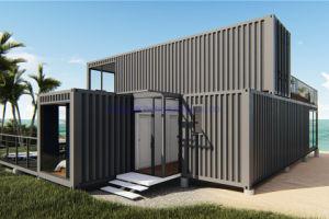 Dos plantas prefabricados modulares prefabricados contenedor portátil/ Casa para vacaciones