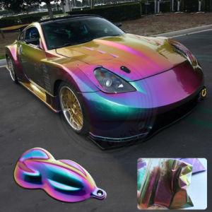 La vernice di spruzzo del Chameleon, automobile di Kameleon filma il pigmento, colorante dello spostamento di colore