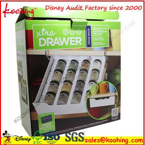Boîte en carton ondulé promotionnel pendre noire avec fenêtre transparente en PVC