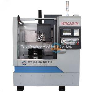 De verticale die CNC Machine Wrc28vm van de Draaibank van het Knipsel van het Wiel voor het Herstellen van de Oppervlakte van het Wiel wordt gebruikt