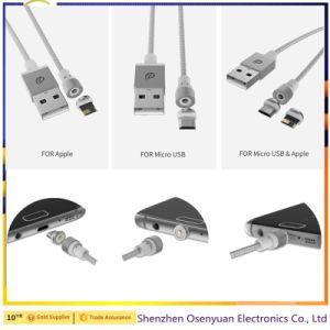 Cavo magnetico rotondo del USB del metallo del caricatore di Wsken di 2017 originali per il cavo di carico di Samsung Apple Huawei Magentic