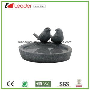 Aves de Jardín Polyresin Birdbath figuritas para la decoración exterior