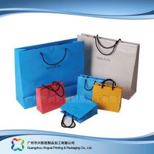 Le logo de l'emballage du papier imprimé Sac pour le shopping// cadeau des vêtements (XC-bgg-012)