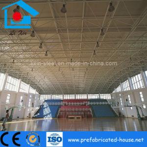 La estructura de la armadura de techo de espacio para la construcción de metal