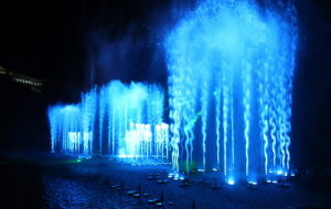 Agua musical música al aire libre Fuente en Nha Trang Vinpearlland