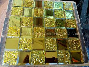 Gouden Mozaiek Tegels : Het gouden mozaïek van de spiegel van de diamant van de tegel van