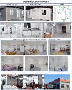 20FT 판매를 위한 빠른 임명 편평한 팩 콘테이너 집