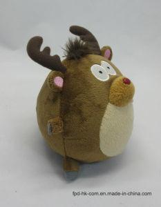 Renne de roulement de jouet de peluche d'animation de Valentine Veille de la toussaint de Noël beau
