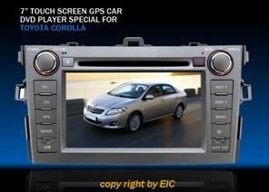7  Special dell'esposizione dell'affissione a cristalli liquidi dello schermo di tocco TFT per Toyota Corolla