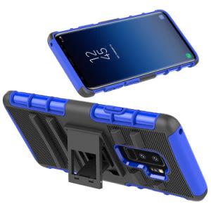カスタム移動式ハウジングのSamsungモデルのための旋回装置のばねベルトクリップが付いている1つの立場のホルスターのコンボの箱に付き涼しい携帯電話の箱3つ