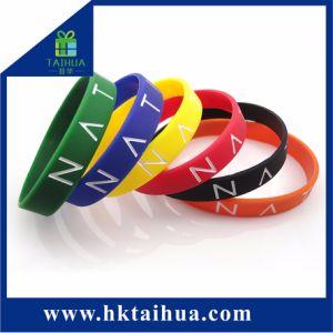 Pulsera pulsera de silicona de moda lleno de color con la impresión de logotipo