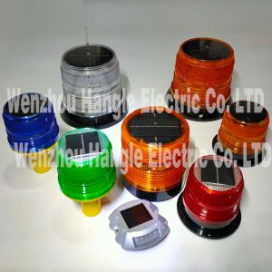 Solar de Alta Calidad de la luz de advertencia de seguridad Solar Solar Flash Semáforo