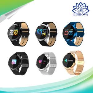 Q8 Wearable Armband van de Vrouwen van de Mannen van de Fitness van de Sport van het Horloge van de Monitor van het Tarief van het Hart van Smartwatch van het Scherm van de Aanraking de Slimme voor Androïde Ios