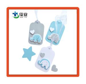 코끼리 베비 샤워 선물 꼬리표는 선물 설명서 감사한다