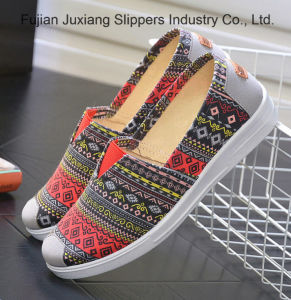 De la Mujer de la moda de felpa escombros único Slip-on zapatos planos