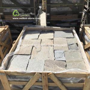ピンクの珪岩の外の壁のクラッディングのための緩い石造りのストリップのAshlarパターン