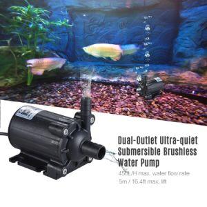 Energie - besparingsOEM gelijkstroom 12V Brushless Landbouw Amfibische Pompen van het Water voor de Stroom 450L/H van de Terugkeer van het Water van de Vijver van het Aquarium van de Tank van Vissen