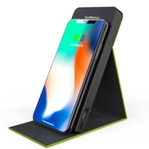 Nuevo super delgada Qi portátil estándar Wireless cargador de corriente Banco para móvil