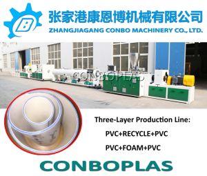 El tubo de plástico de la extrusora varios PVC Tubo de drenaje de tres capas de la extrusora
