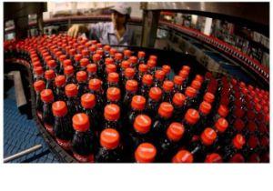 탄화된 음료 콜라 Machime를 채우는 플라스틱 병
