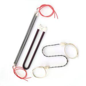 Lampada di riscaldamento a temperatura elevata del tubo del quarzo della fibra del carbonio
