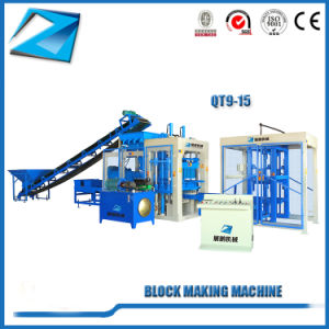 Mobiler Qt9-15 Ziegeleimaschine-Betonstein, der Maschinen herstellt